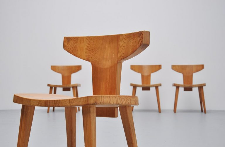 Jacob Kielland-Brandt dining chairs Denmark 1960
