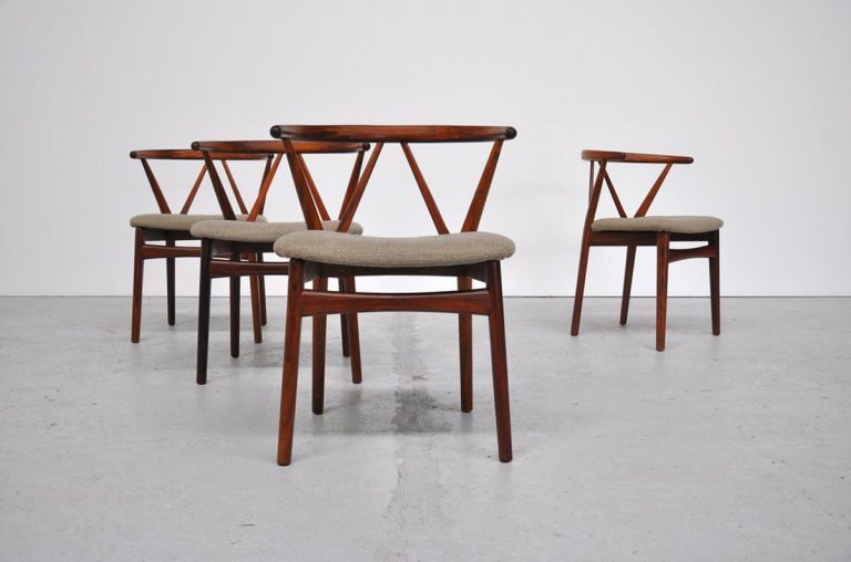 Henning Kjaernulf Rosewood chairs 1962