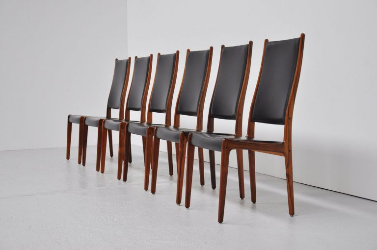 Johannes Andersen rosewood dining chairs 1960