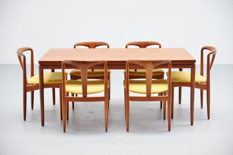 Johannes Andersen teak dining table Chr Linneberg 1964