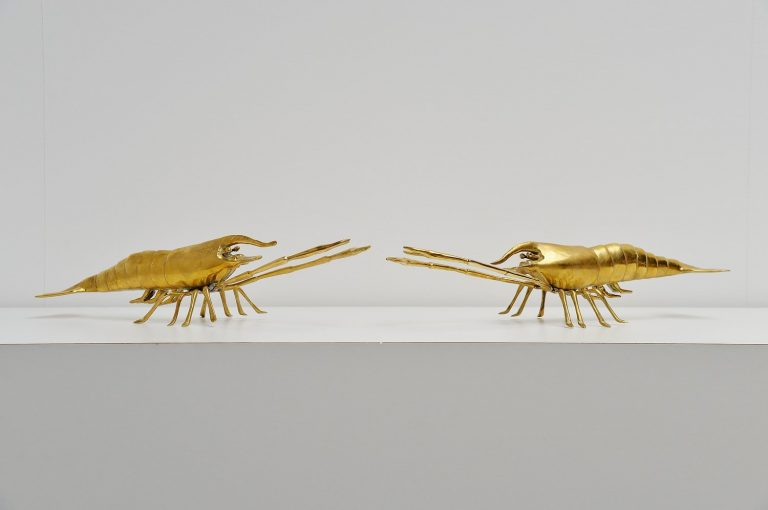 Pair of bronze lobsters from France 1970