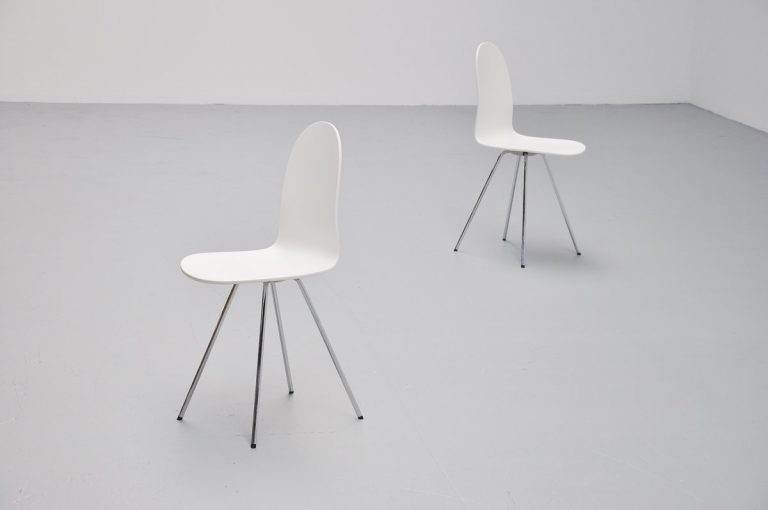 Arne Jacobsen Tongue chairs Fritz Hansen 1970s