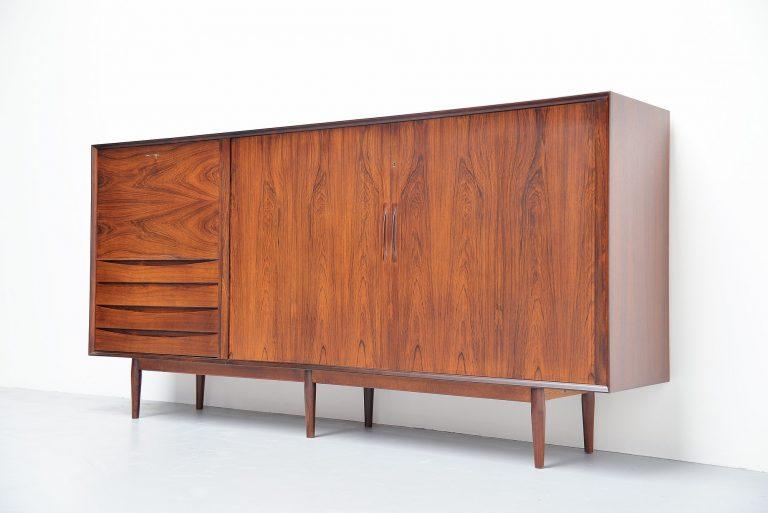 Arne Vodder rosewood higboard Sibast Mobler Denmark 1960