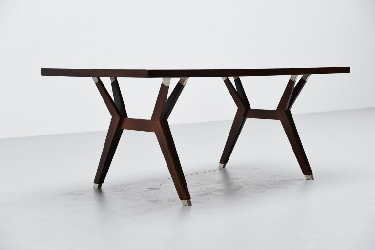 Ennio Fazioli MIM dining table in rosewood Italy 1958
