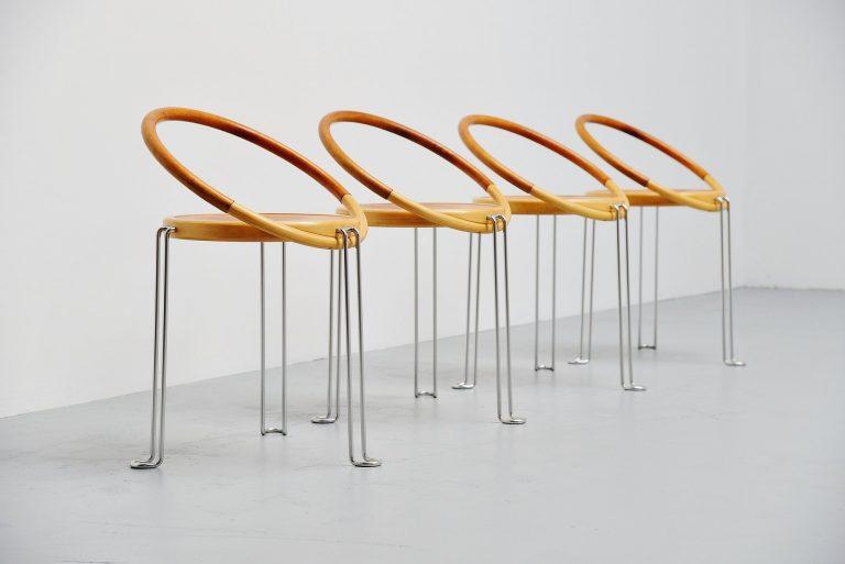 Swedish circle dinner chairs Sweden 1970