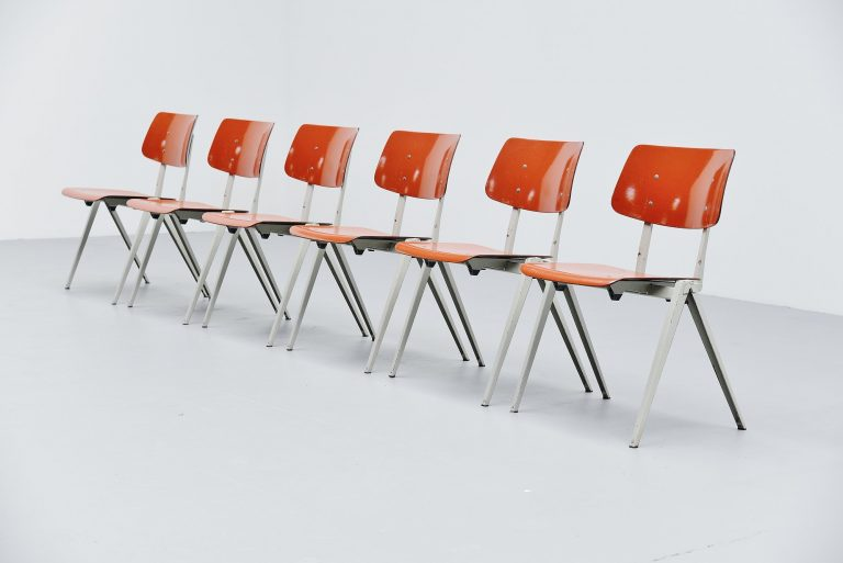 Galvanitas industrial stacking chairs Holland 1970