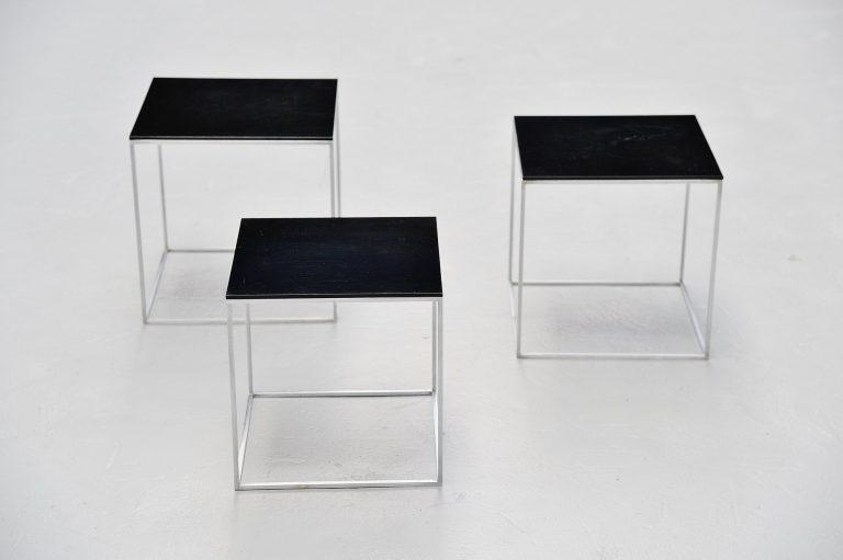 Poul Kjaerholm PK71 nesting tables Denmark 1957