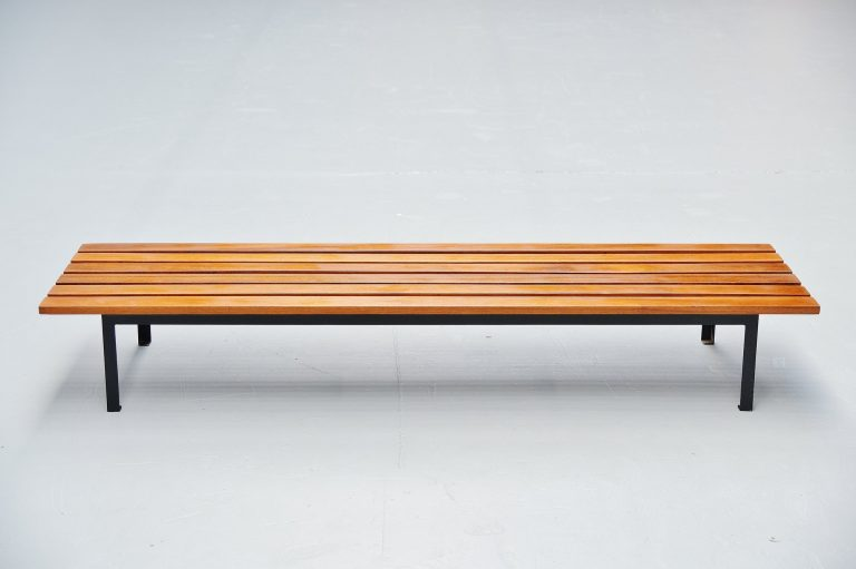 Dutch modernist slat bench Hein Salomonson Holland 1950