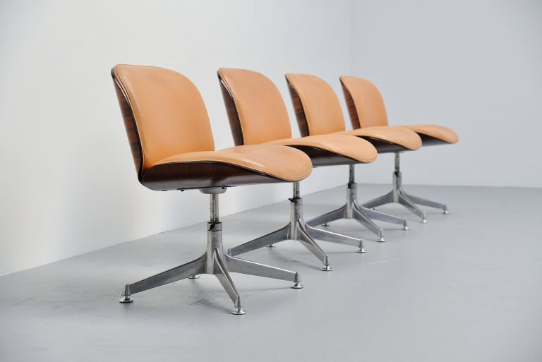 Ico Parisi MIM Terni office chairs set Italy 1958