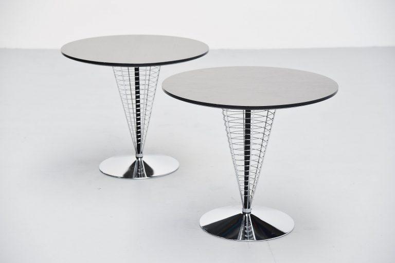 Verner Panton wire cone tables Fritz Hansen 1988
