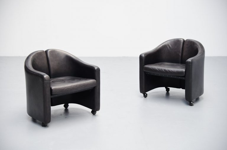 Eugenio Gerli PS142 easy chairs Tecno Italy 1966