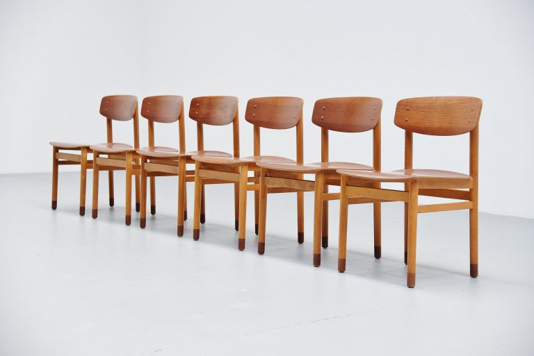 Kvetny & Sonners plywood dining chairs Denmark 1968