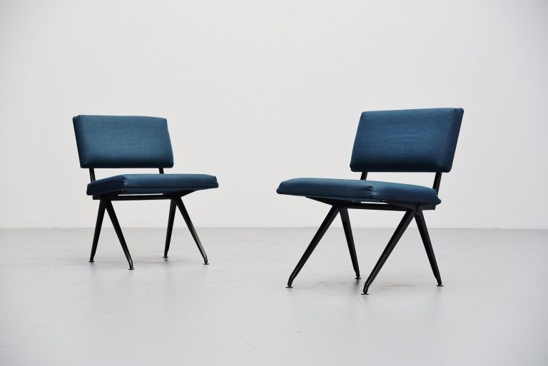 Marko industrial easy chairs pair Holland 1960