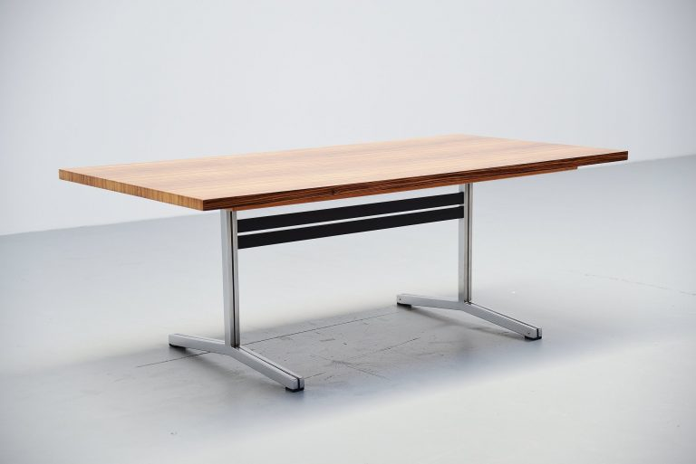 Theo Tempelman dining table in zebrano AP Originals 1960