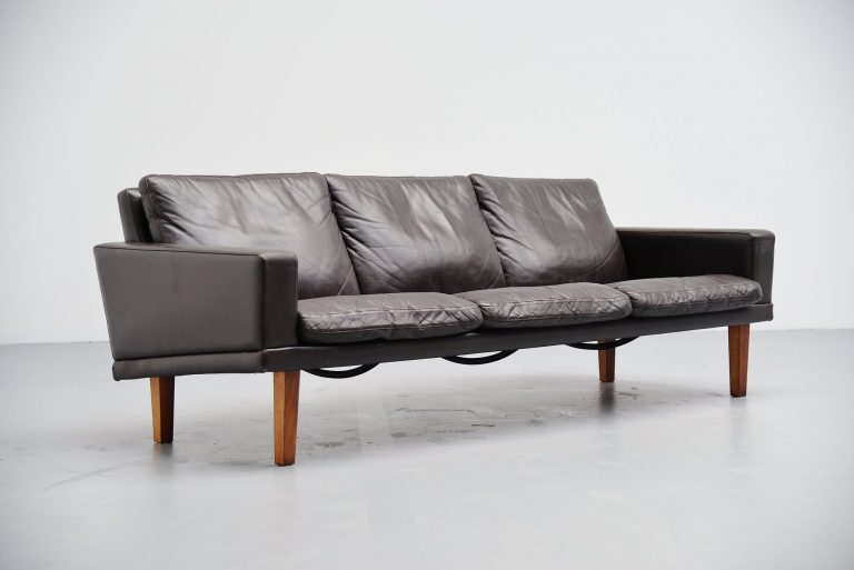 Bovenkamp lounge sofa leather and rosewood Holland 1960