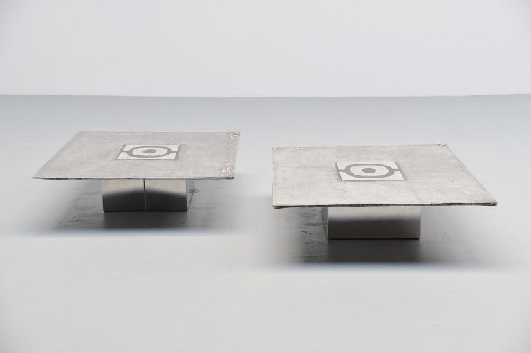 Willy Ceysens coffee table pair Belgium 1970