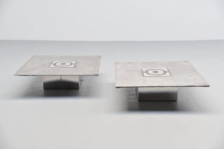 Willy Ceysens coffee table pair Belgium 1970