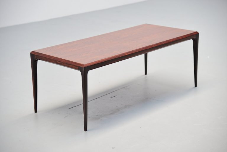 Johannes Andersen rosewood coffee table Denmark 1960