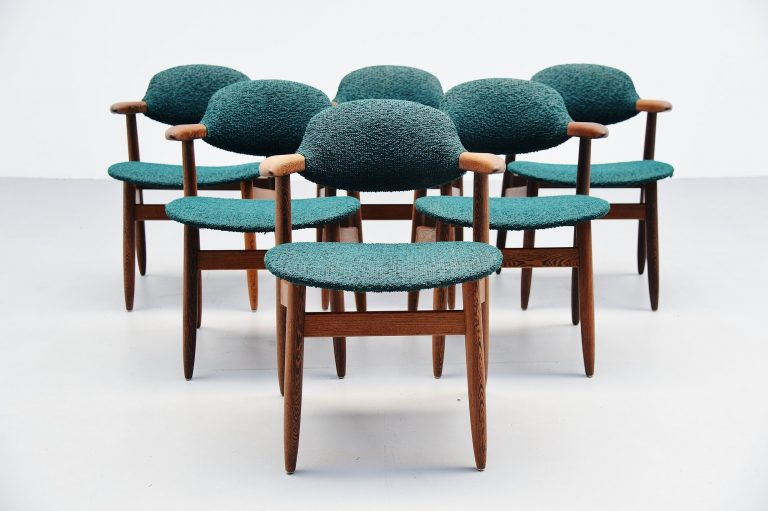 Tijsseling Cowhorn chairs by Hulmefa Holland 1960