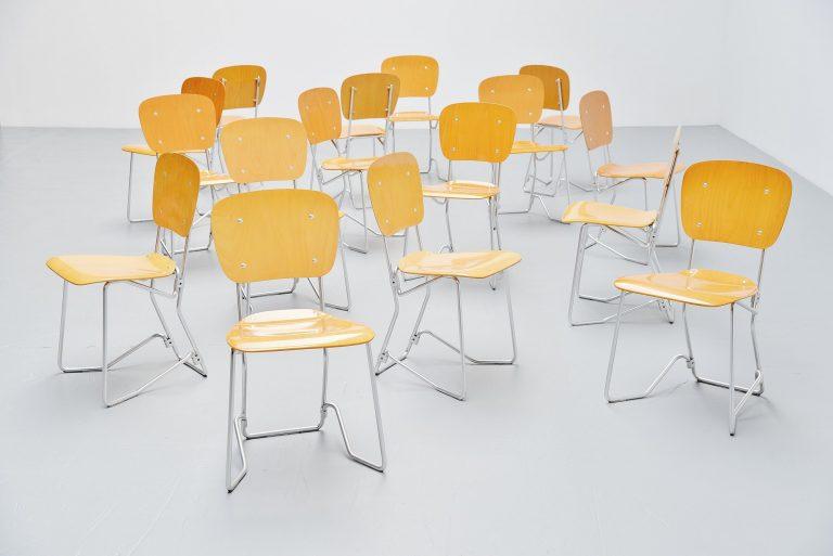Armin Wirth Alu flex folding chairs Switzerland 1951