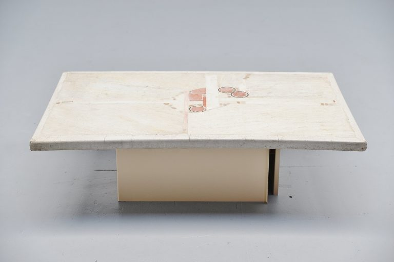 Paul Kingma rectangular coffee table white 1984