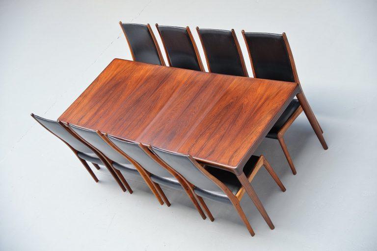 Bramin HW Klein rosewood dining table Denmark 1960