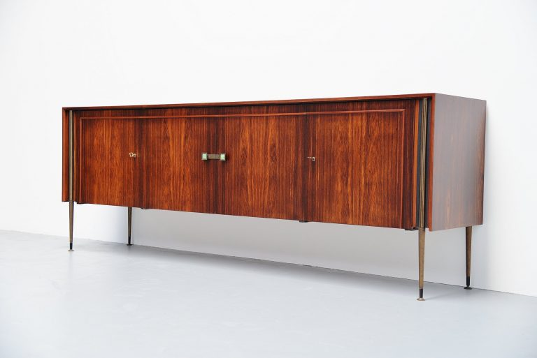 Rosewood post art deco sideboard Holland 1950