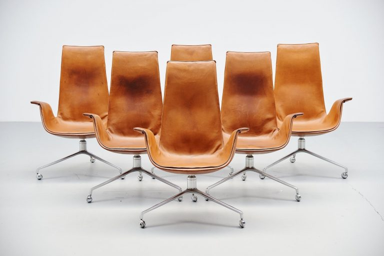 Preben Fabricius and Jorgen Kastholm FK6725 chairs 1964