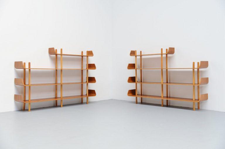Willem Lutjens bookcase pair Gouda den Boer 1953