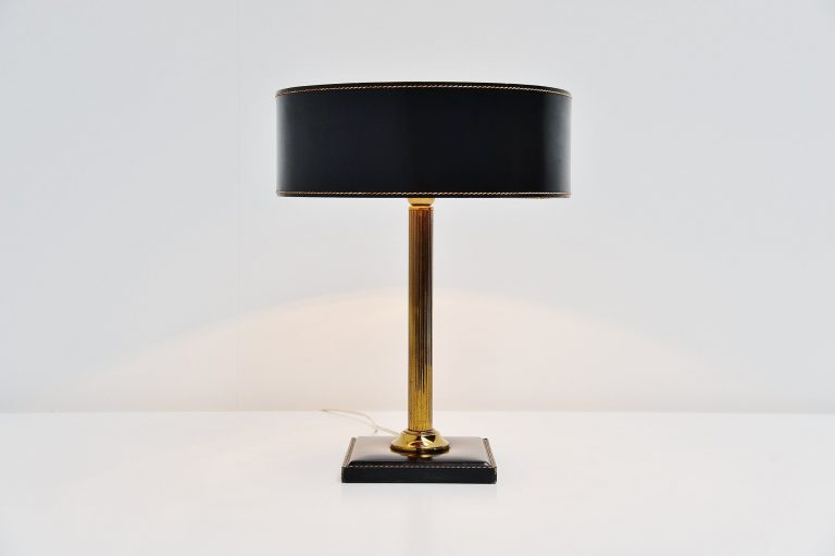 Jacques Adnet leather clad lamp France 1960