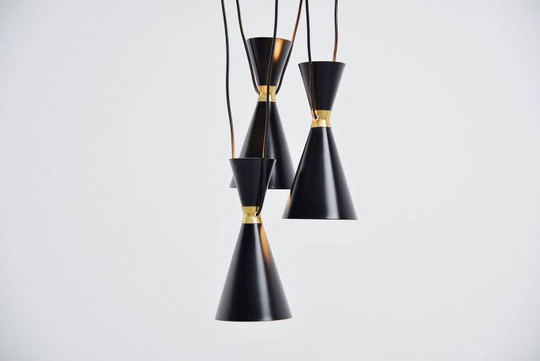 Stilnovo diabolo chandelier Italy 1950