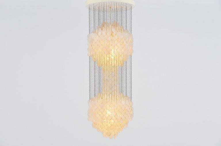 Verner Panton Fun 5DM chandelier Luber 1964