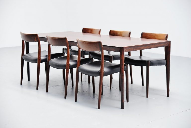 Severin Hansen rosewood dining table Haslev Denmark 1960