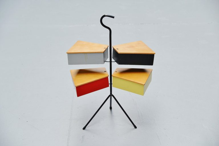Joos Teders Metalux sewing box Holland 1955
