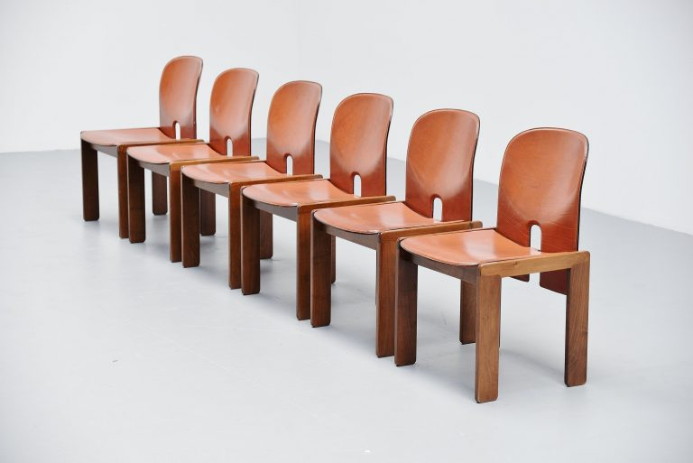Afra and Tobia Scarpa 121 chairs for Cassina Italy 1965