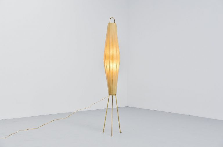 H Klingele Lugano floor lamp Artimeta Holland 1957
