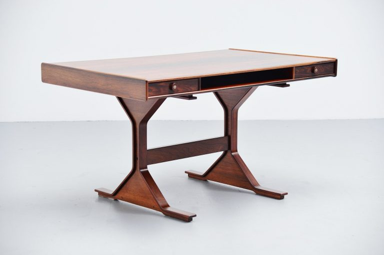 Gianfranco Frattini rosewood writing desk Bernini 1957