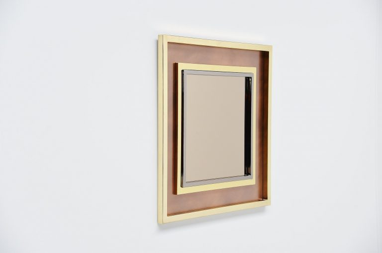 Maison Jansen XXL wall mounted mirror France 1970