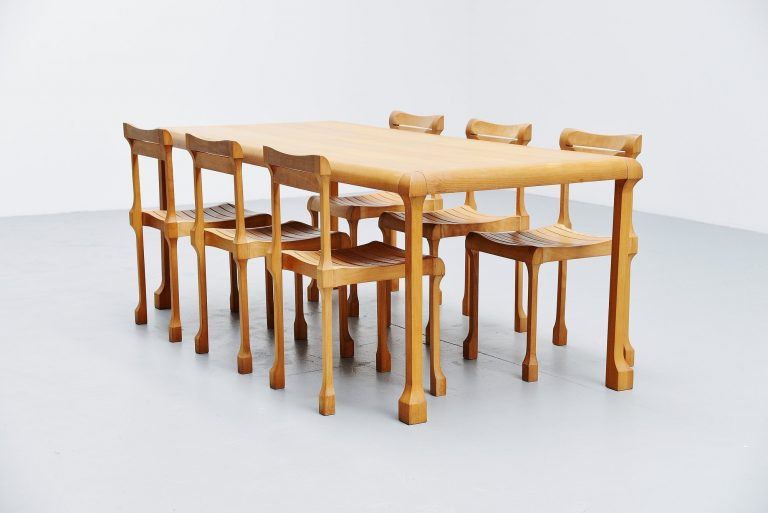 Ruud Jan Kokke dining table set Holland 1990