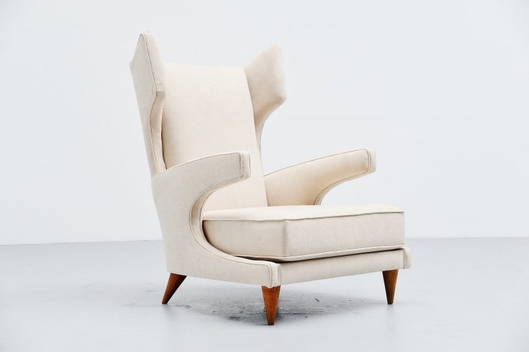 Paolo Buffa attributed lounge chair Italy 1950