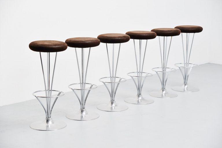 Piet Hein bar stools by Fritz Hansen Denmark 1968