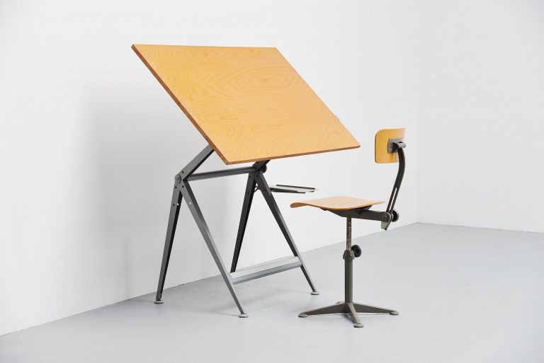 Wim Rietveld Friso Kramer Reply drafting table 1963