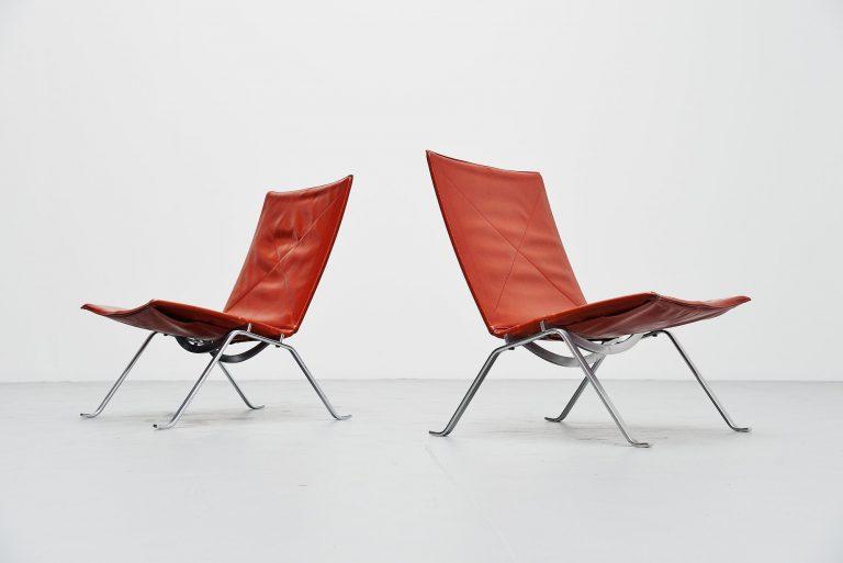 Poul Kjaerholm PK22 chairs E Kold Christensen Denmark 1956