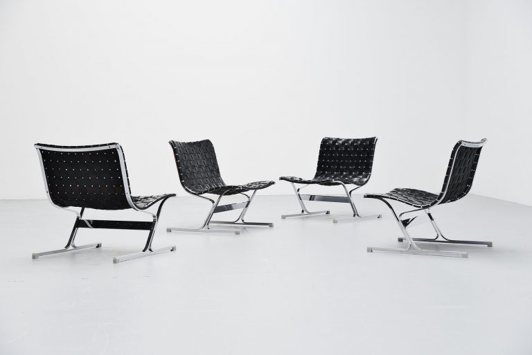 Ross Littel Luar lounge chair pair ICF de Padova Italy 1965