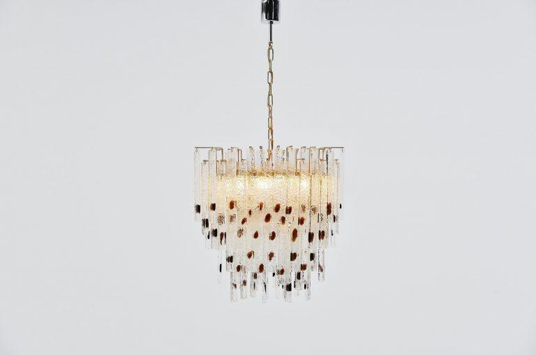 Venini chandelier Murano Italy 1960