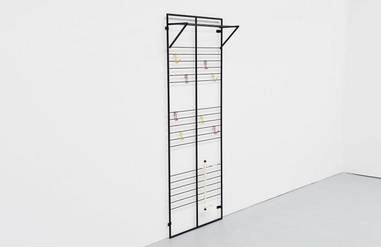 Coen de Vries coat rack wall mounted Devo Holland 1954