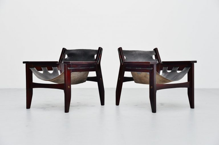 Sergio Rodrigues Kilin chairs pair Oca Brazil 1973
