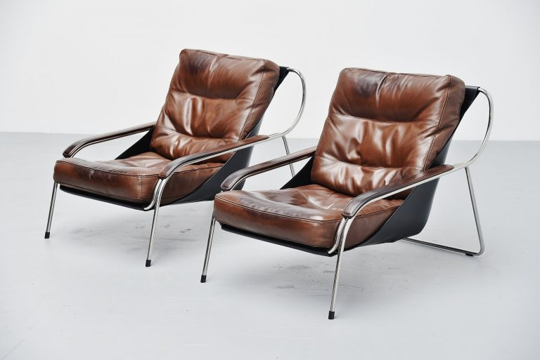 Marco Zanuso Maggiolina lounge chairs Zanotta 1974