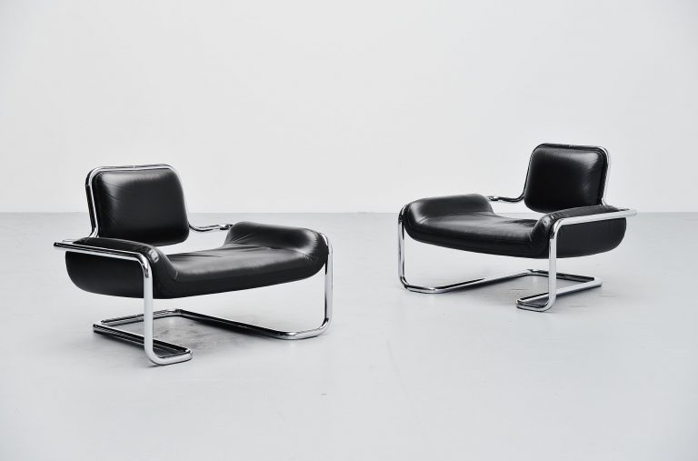 Kwok Hoi Chan Limande lounge chairs Steiner France 1971