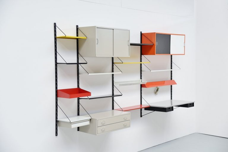 Tjerk Reijenga shelving unit by Pilastro Holland 1960